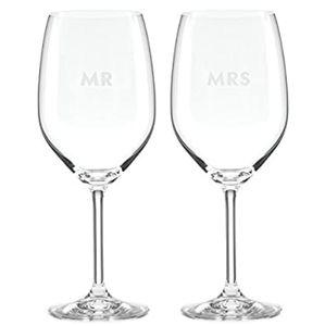 Kate Spade Darling Mr & Mrs Wine Glass set